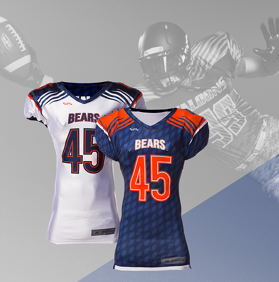 custom football softball uniforms