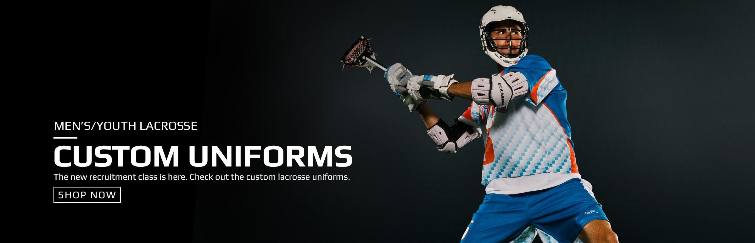 Boombah Men's Custom Lacrosse Uniforms