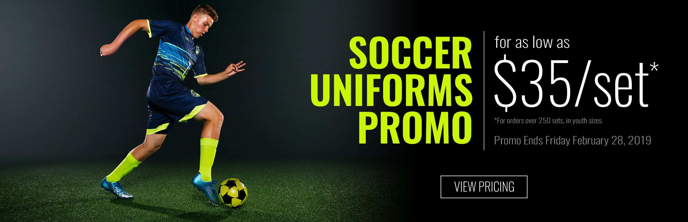Soccer Uniform Promos