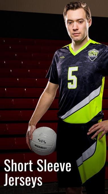 Custom Men's and Boys' Short Sleeve Volleyball Jerseys