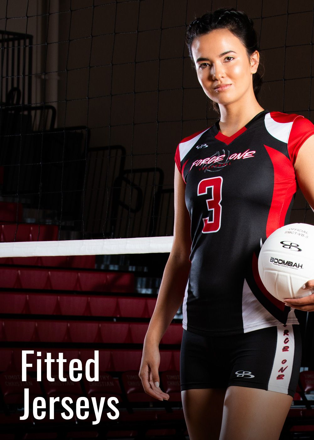 Custom Women's and Girls' Fitted Tight Volleyball Jerseys
