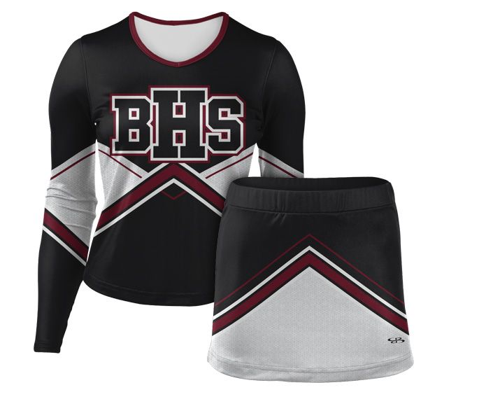 Long Sleeve Shell and Cheer Skirt