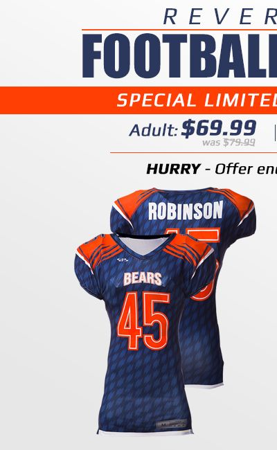 Boombah Men's Reversible Football Jersey Special Price