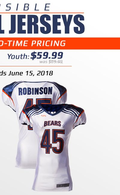 Boombah Youth Reversible Football Jersey Special Price